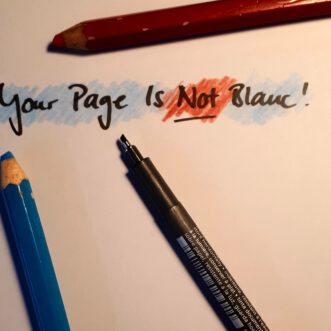"""""""Your Page Isn't Blanc"""" – How To Deal with Perfectionism"""